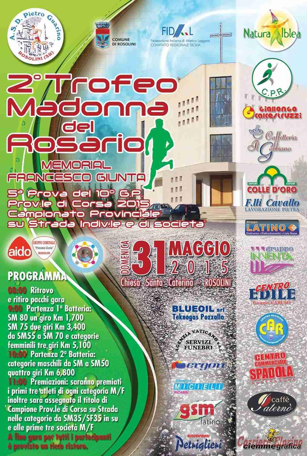 Domenica 31 maggio appuntamento col 2° Trofeo Madonna del Rosario
