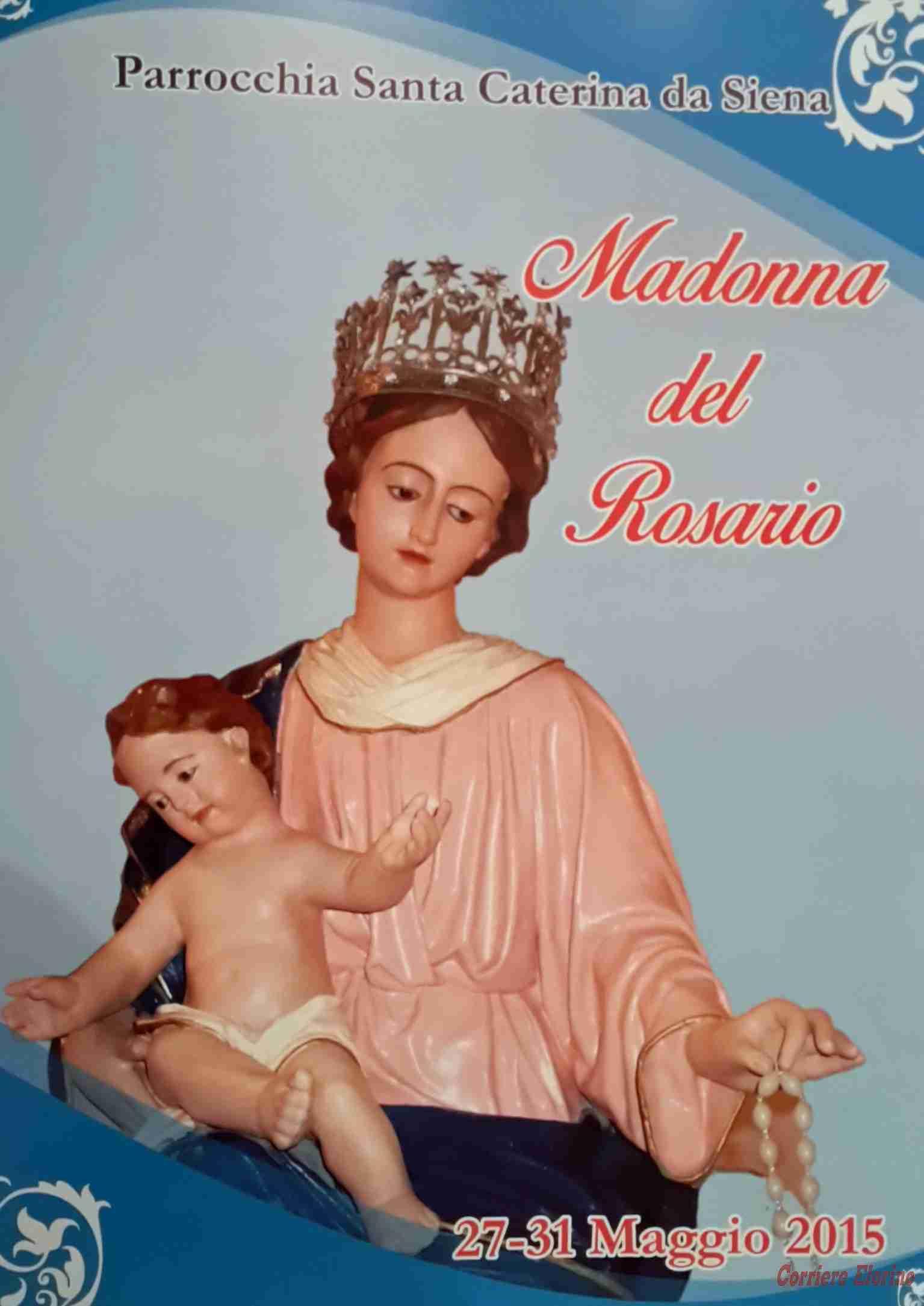 """""""Madonna del Rosario"""". Il programma della festa, dal 27 al 31 maggio"""