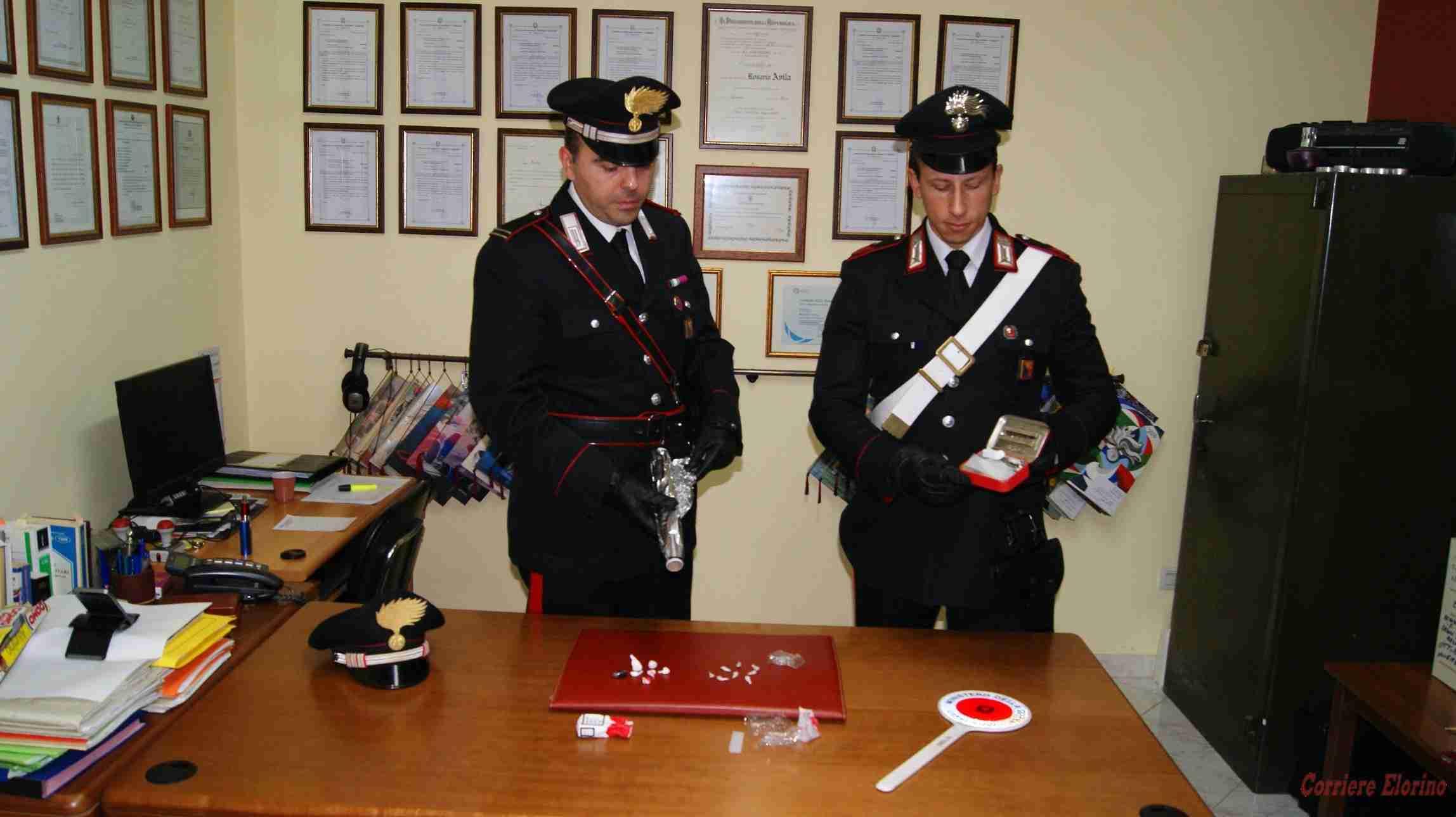 Controllo antidroga dei Carabinieri: in due tratti in arresto