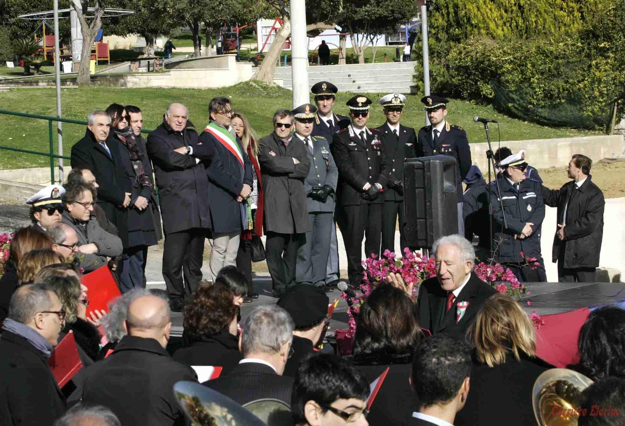 Intitolato all'ispettore capo di Polizia Filippo Raciti il parcheggio del parco Giovanni Paolo II
