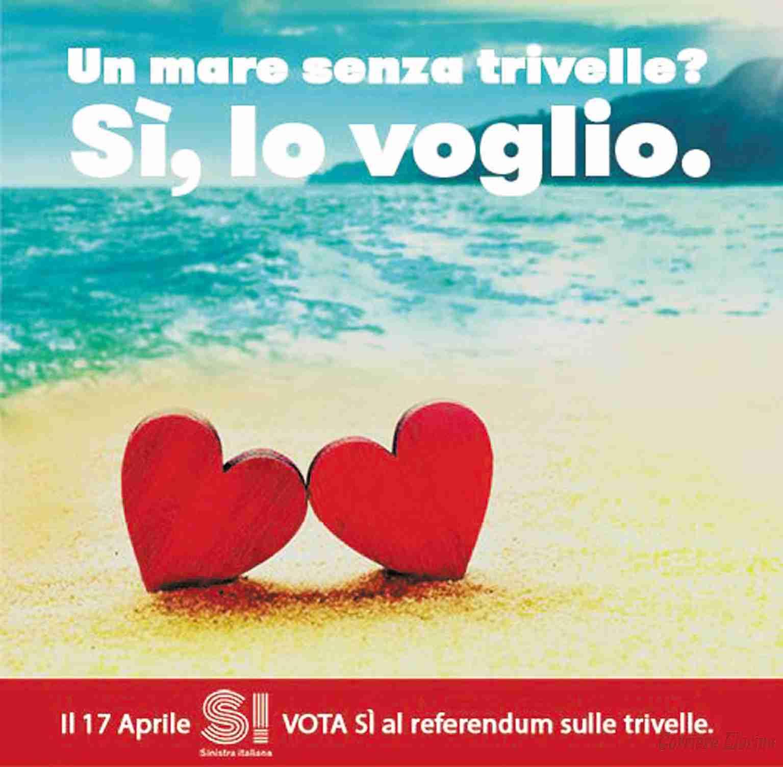 """Sel Rosolini: «Il nostro """"sì"""" al referendum del 17 aprile contro le trivellazioni nel nostro mare»"""