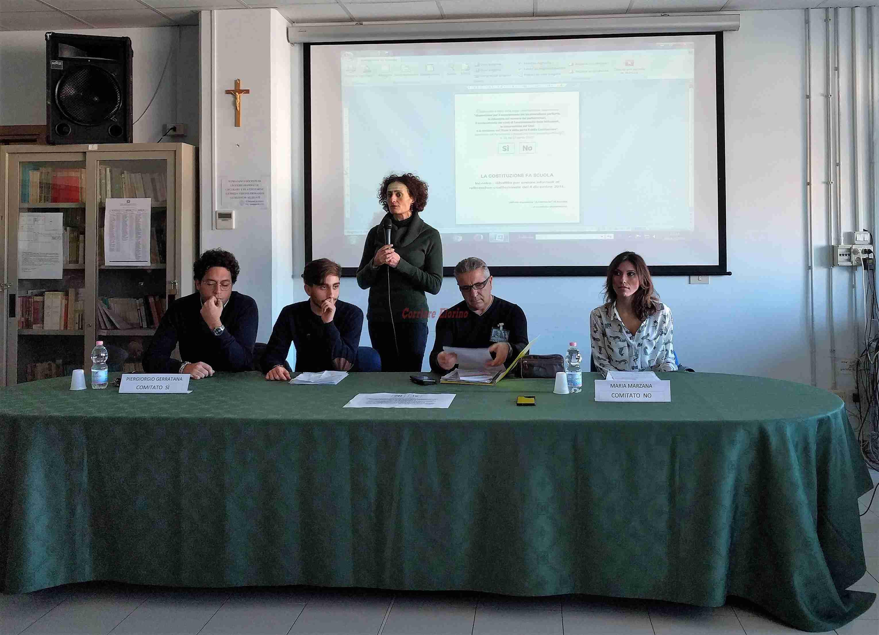 """Incontro dibattito all'""""Archimede"""" tra le ragioni del SI e le ragioni del NO al referendum costituzionale"""