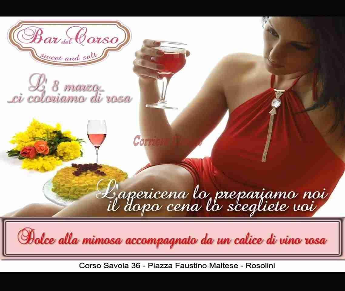 """Il """"Bar del Corso"""" si tinge di rosa per la Festa della Donna"""