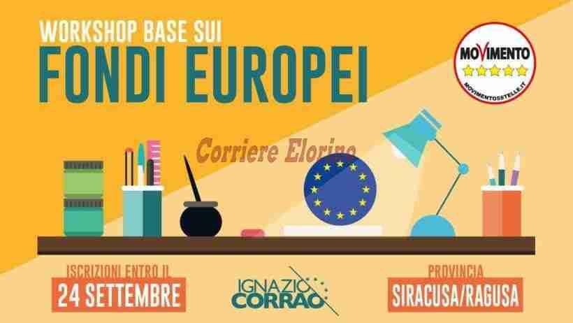 Si terrà a Rosolini il Workshop sui Fondi Europei indetto dal Movimento 5 Stelle