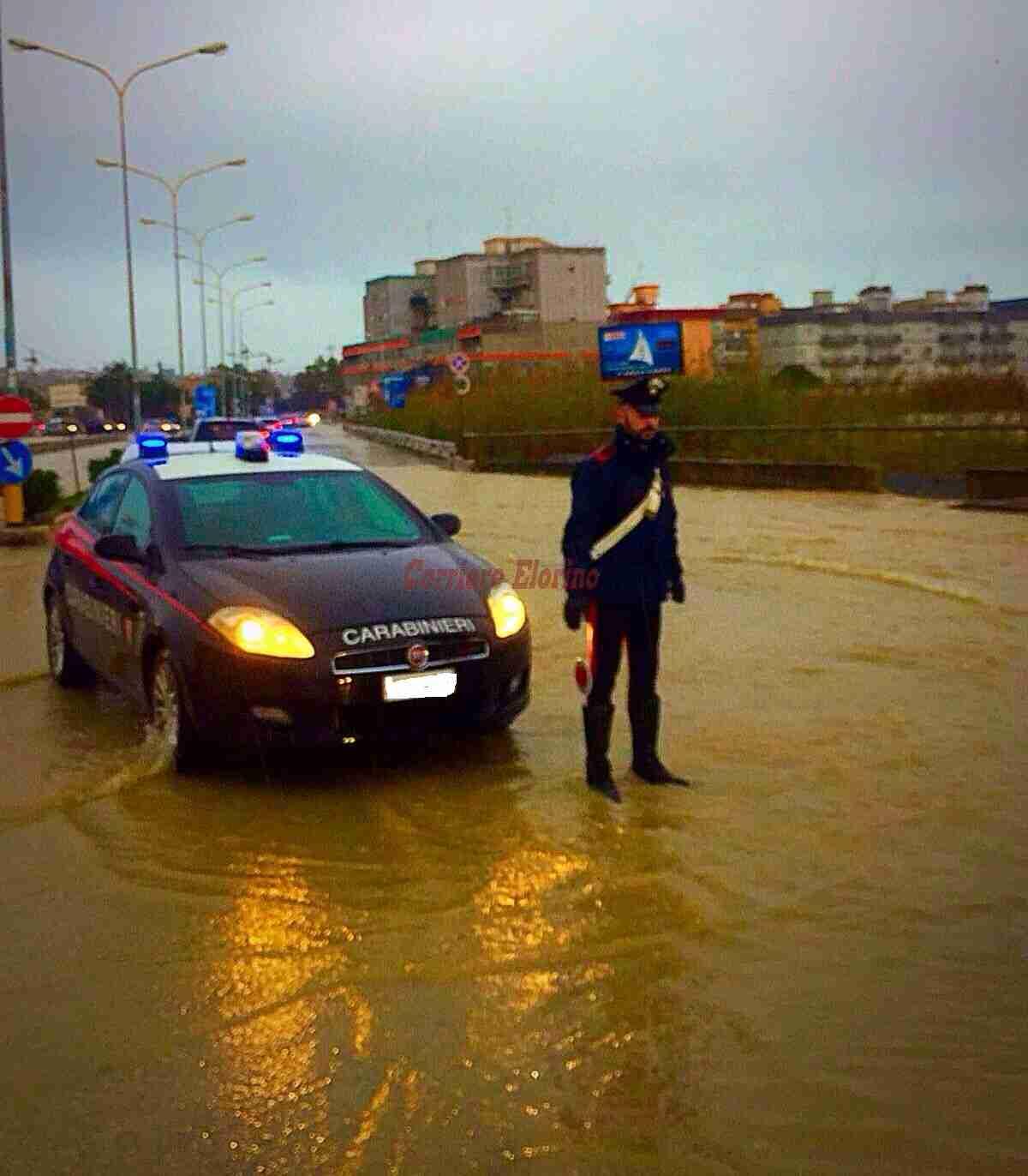 Forti piogge e allagamenti, numerosi interventi dei Carabinieri