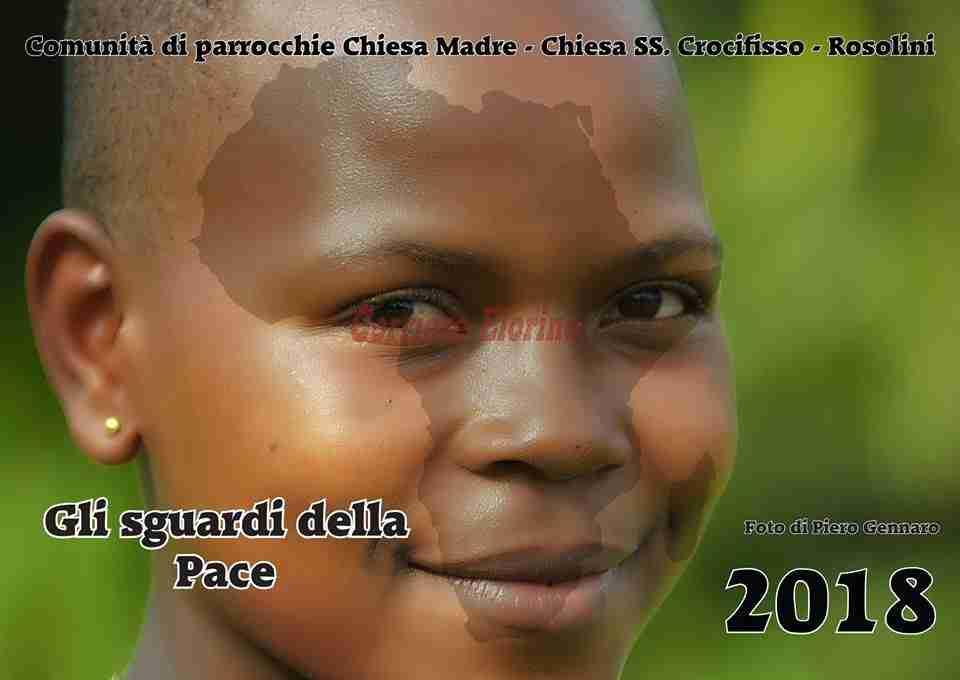 """Oggi pomeriggio la presentazione del calendario di Piero Gennaro """"Gli sguardi della Pace"""""""