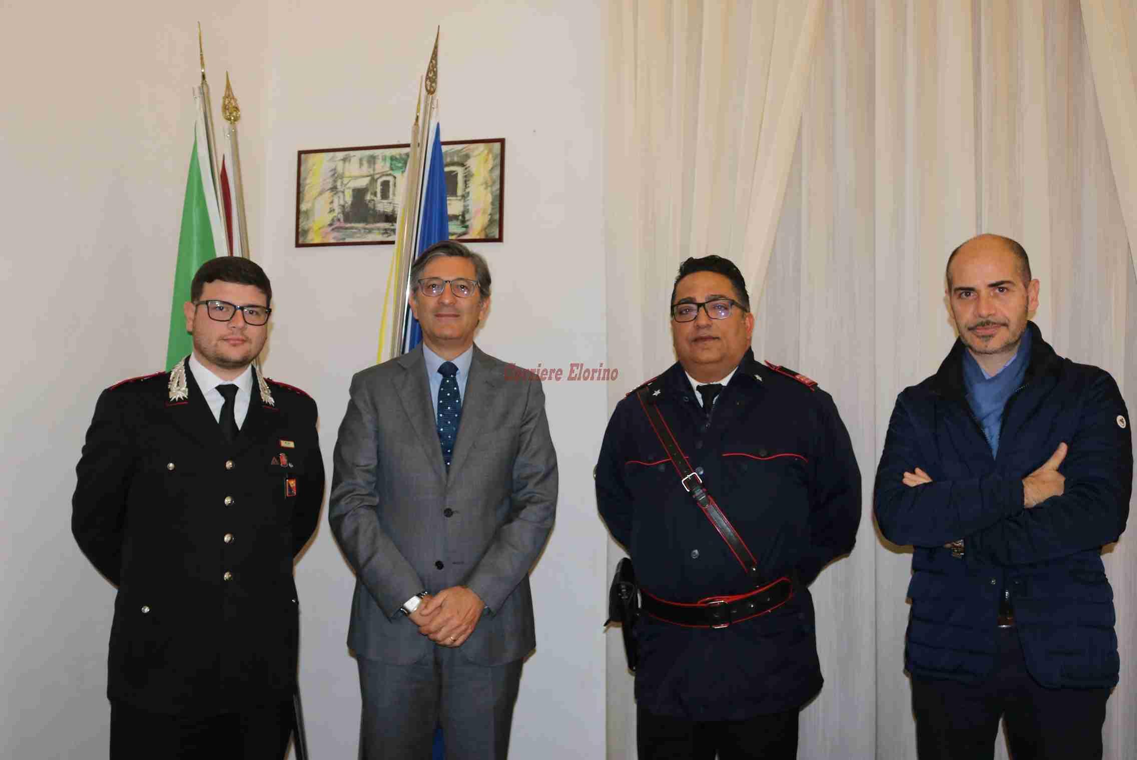 Il nuovo Comandante della Compagnia Carabinieri di Noto  in visita di cortesia  a Palazzo di Città