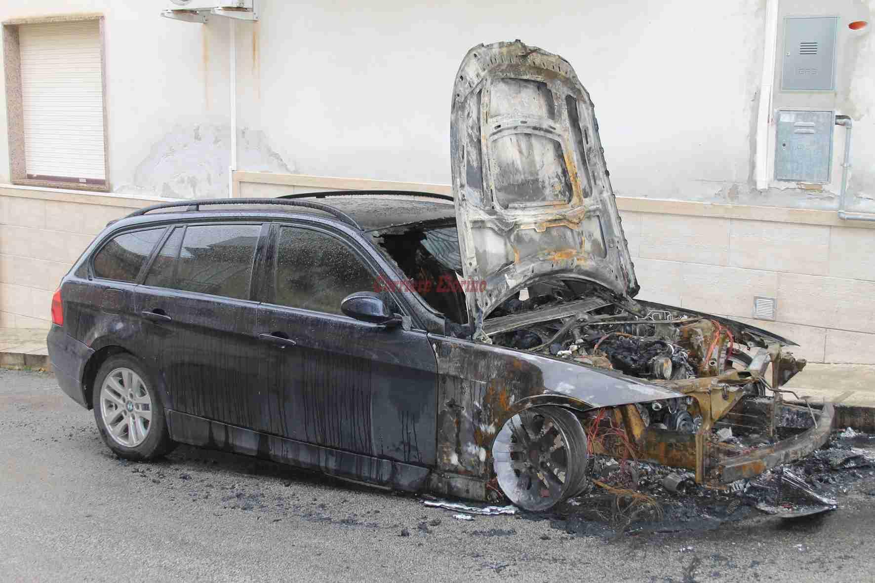 In fiamme nella notte l'auto dell'ex assessore Carmelo Di Stefano