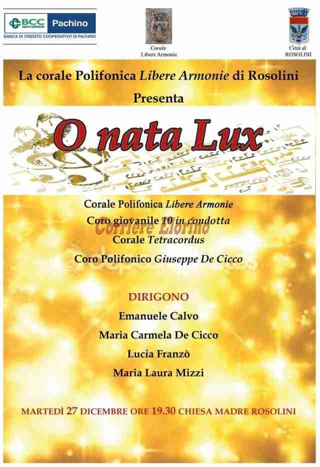 """Questa sera in Chiesa Madre alle 19,30 a Rosolini """"rassegna di cori"""" nel concerto """"O nata Lux"""""""