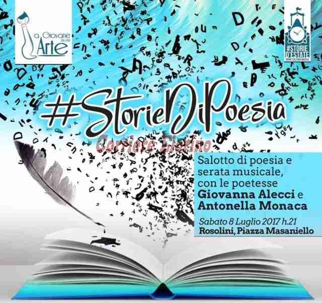 Appuntamento stasera con La Giovane Arte: #storie di poesie