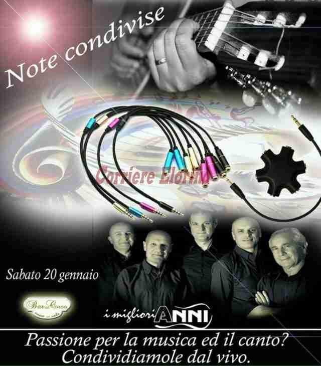 """Il Bar del Corso presenta: """"Note Condivise"""" domani sera insieme a I Migliori Anni"""
