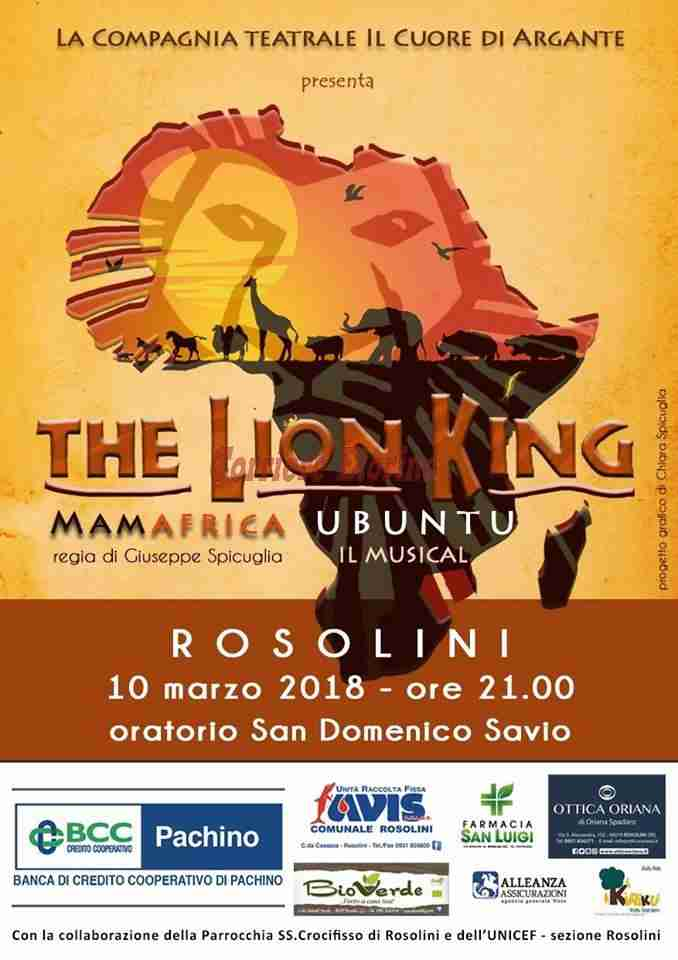The Lion King: ultimi posti per il musical promosso da Unicef e SS Crocifisso