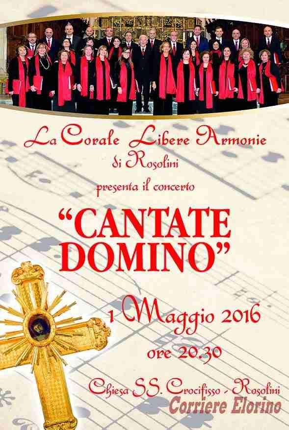 """Concerto Sacro """"Cantate Domino"""" della corale polifonica """"Libere Armonie"""" di Rosolini"""