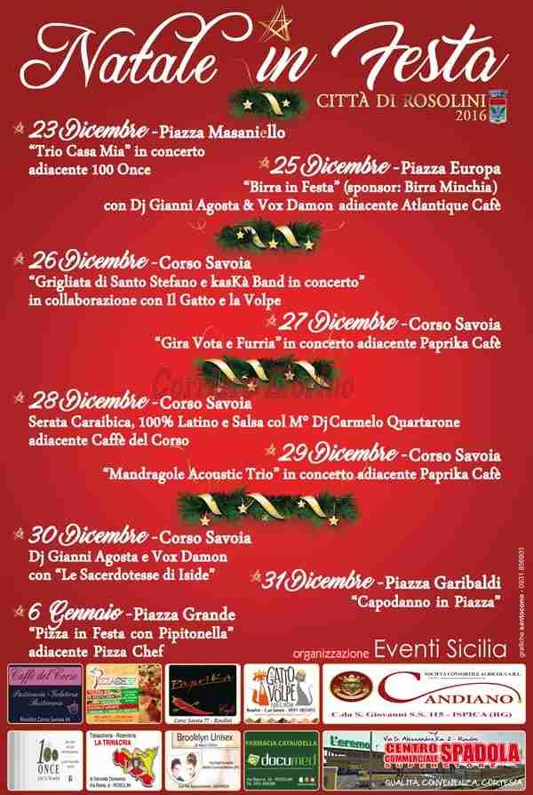 """Ecco il programma del """"Natale in festa"""" 2016"""