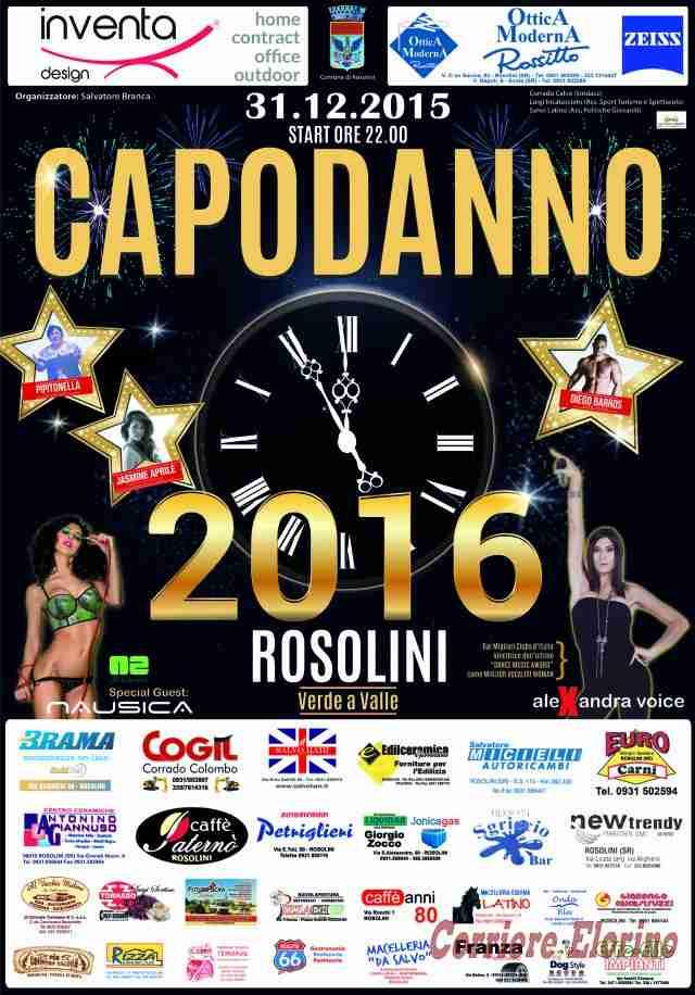 """Capodanno 2016 a Rosolini. Al Parco """"Giovanni Paolo II"""", start ore 22"""