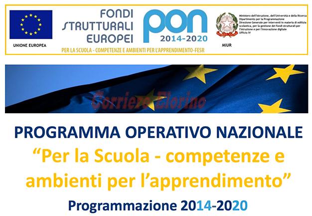 """Programma Operativo Nazionale """"Per la scuola, competenze e ambienti per l'apprendimento"""", sottoscritto un """"accordo di rete"""""""