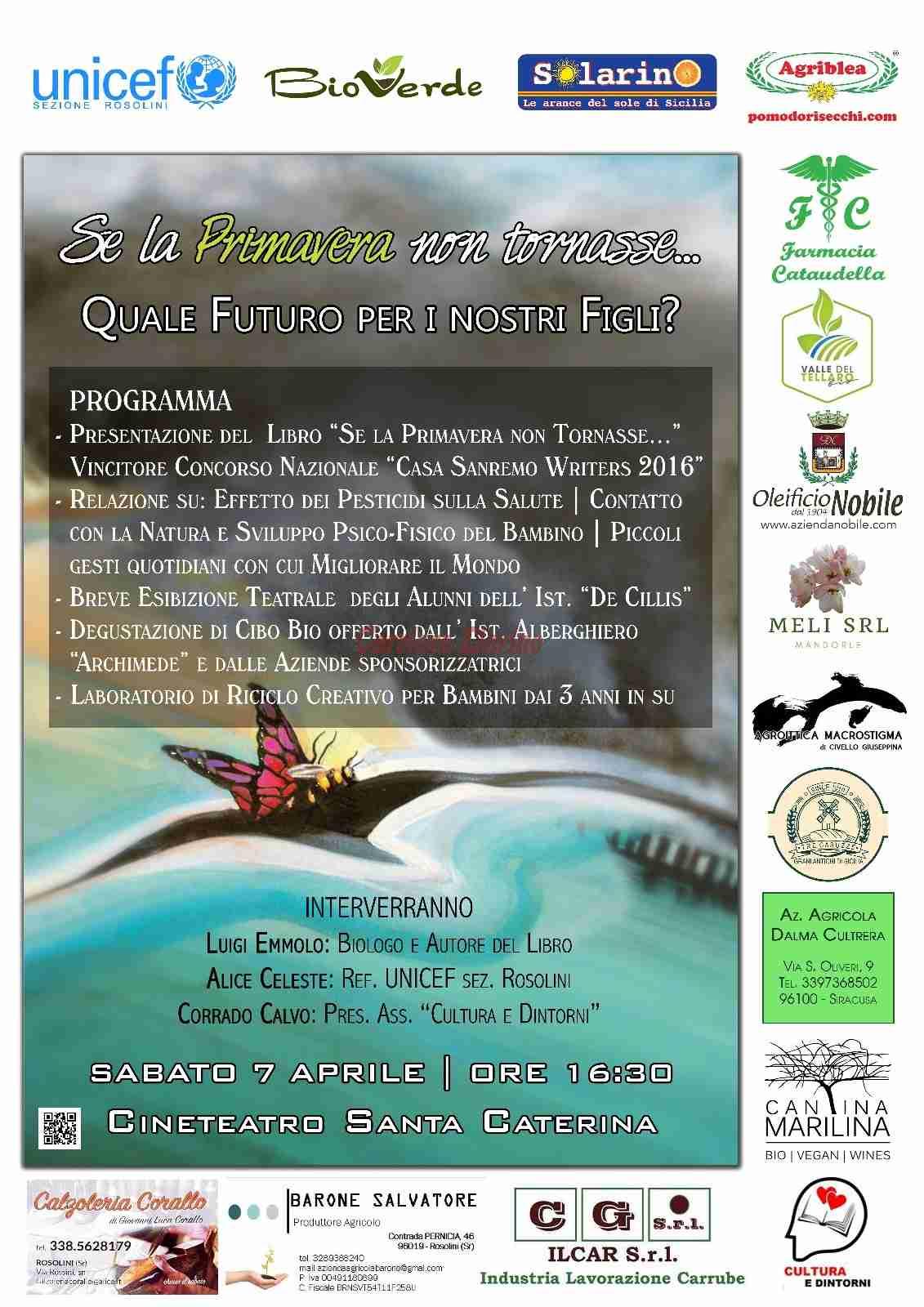 Il Libro di Luigi Emmolo per un evento in sinergia con l'Unicef