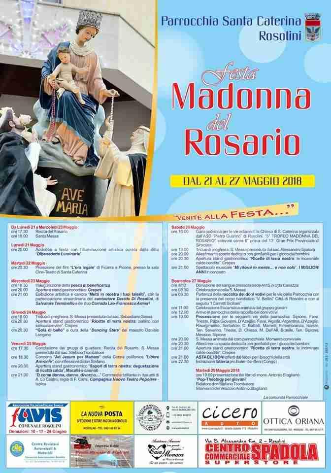 Festa Madonna del Rosario: stasera spettacolo artistico e canoro