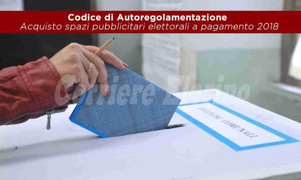 Acquisto spazi pubblicitari elettorali a pagamento 2018