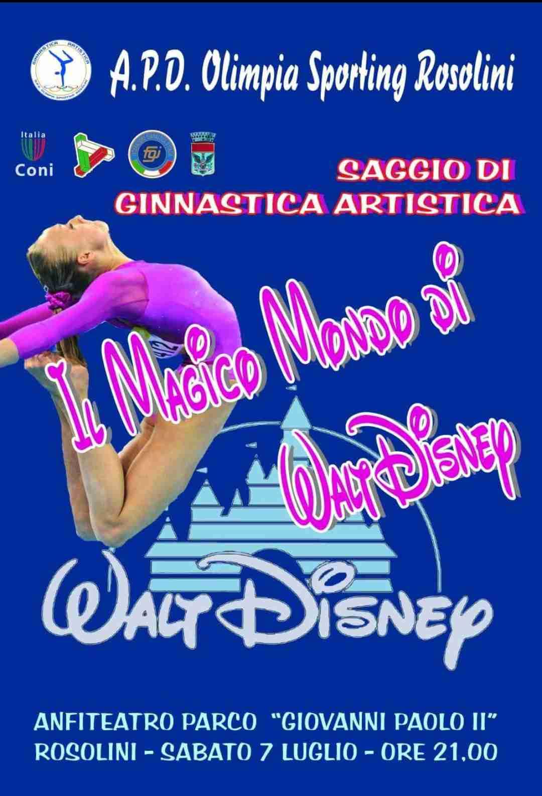 """Stasera l'Olimpia Sporting Rosolini ci farà immergere nel """"Magico mondo di Walt Disney"""""""