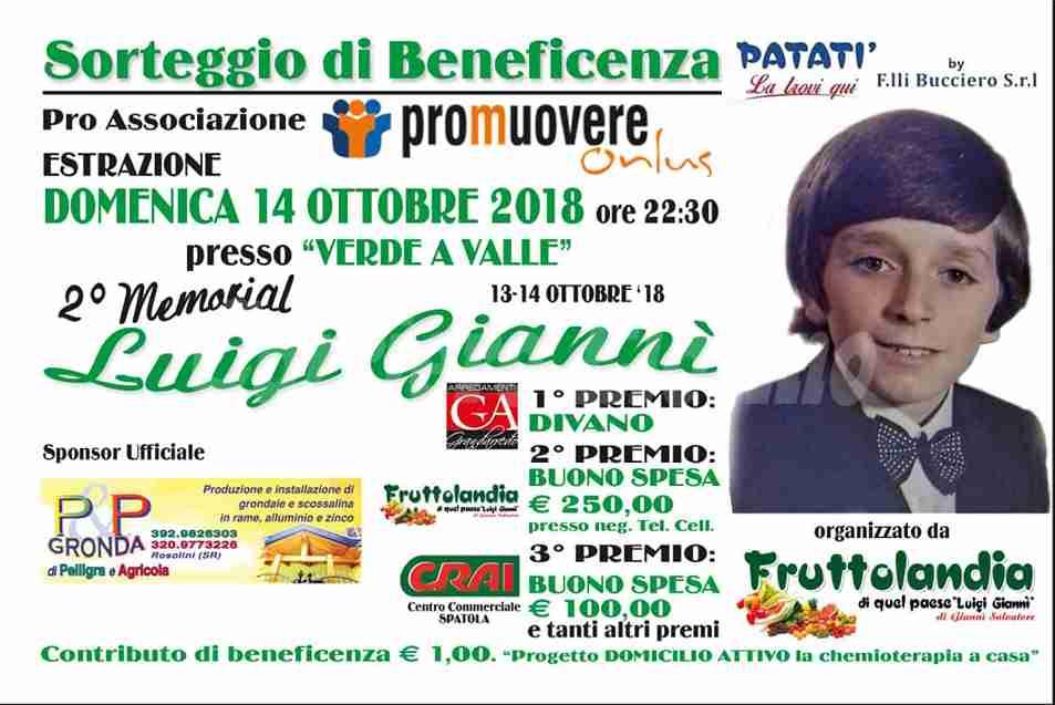 "Il 13 e 14 Ottobre si terrà il ""II Memorial Luigi Giannì"""