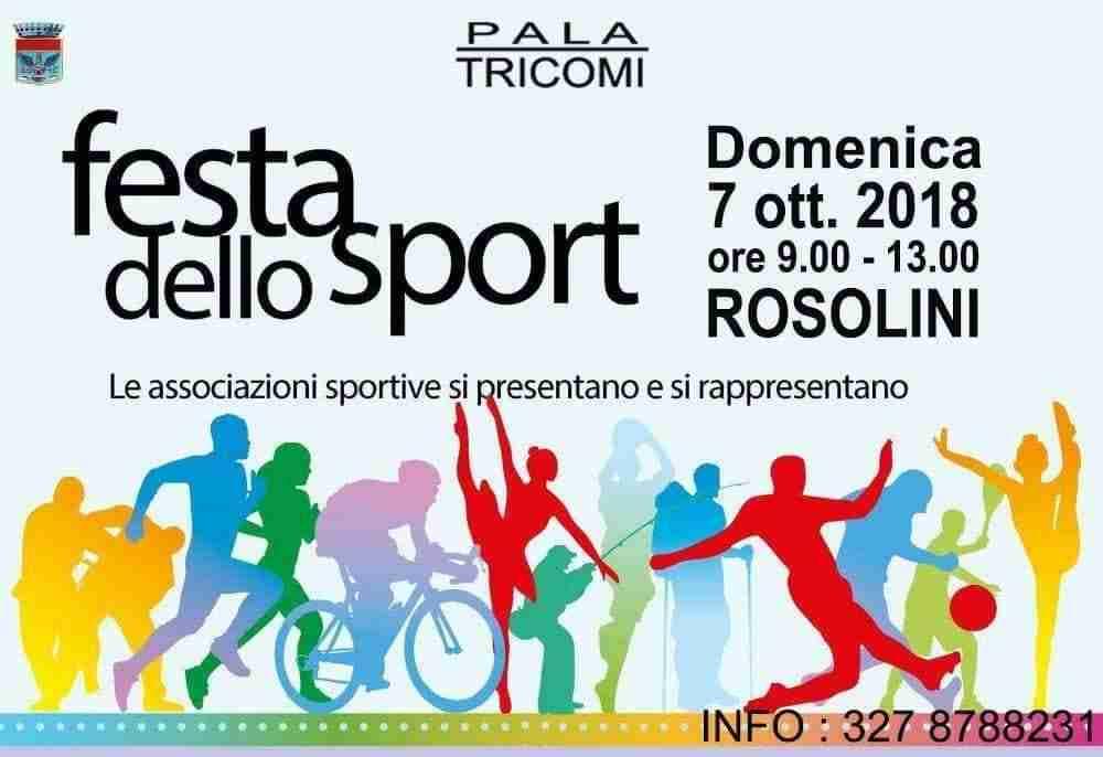 """Domenica 7 ottobre la prima """"Festa dello Sport"""""""