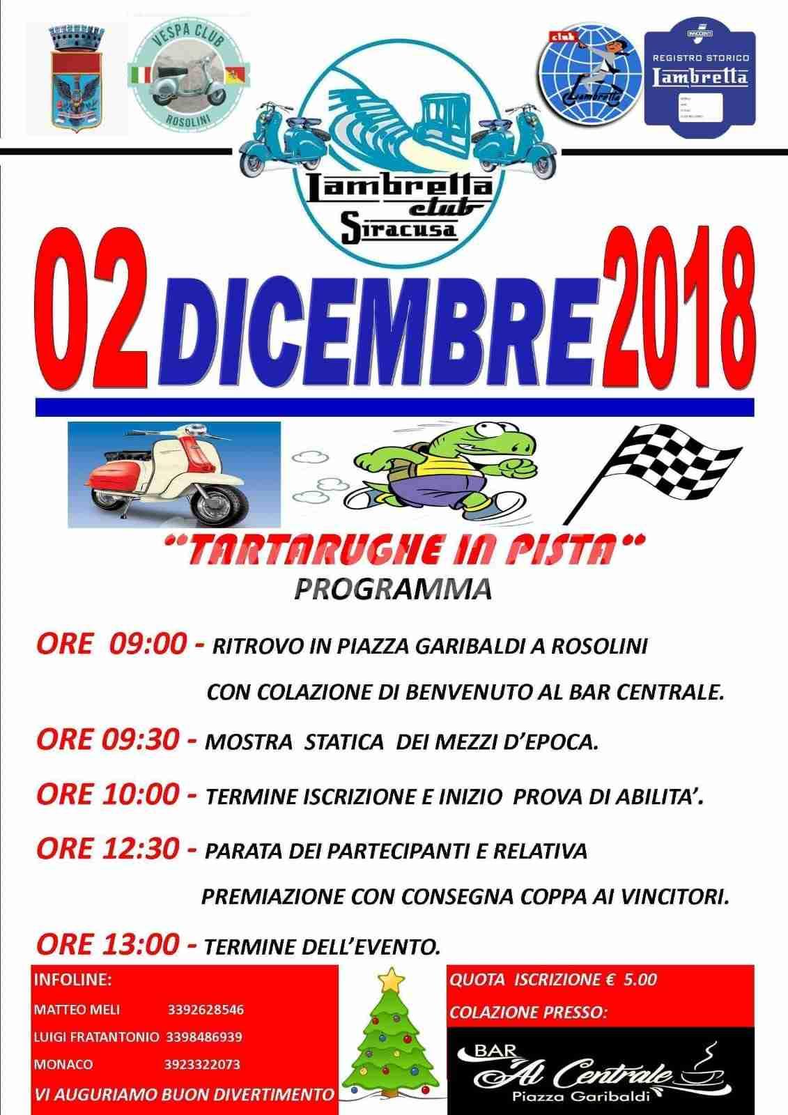 """Domenica 2 dicembre in Piazza Garibaldi torna """"Tartarughe in pista"""""""