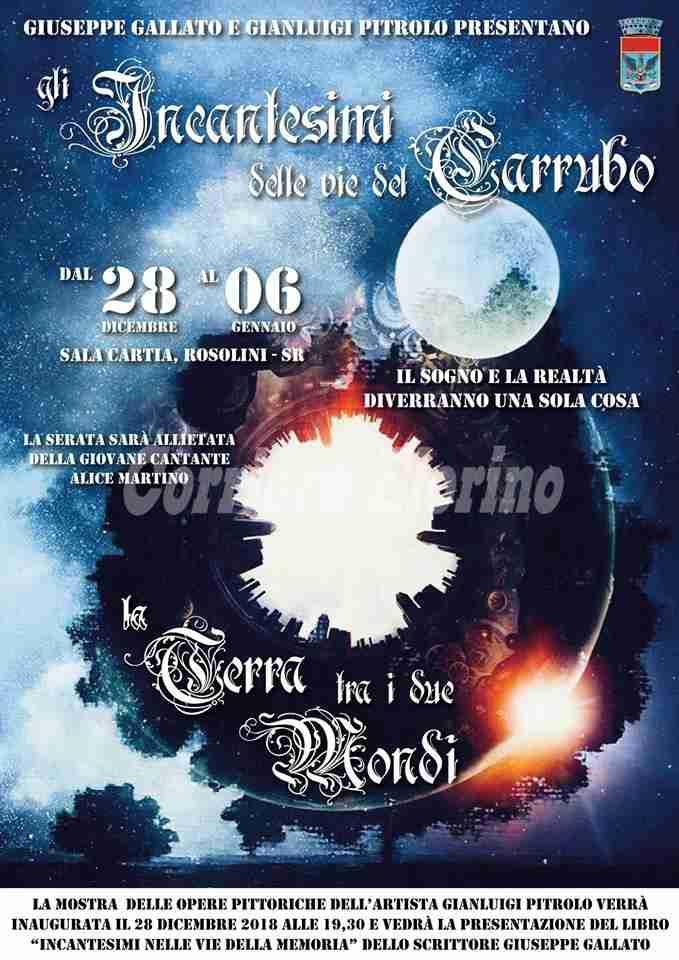 """Il 28 dicembre in sala Cartia """"Gli Incantesimi delle vie del Carrubo"""" prenderanno vita"""