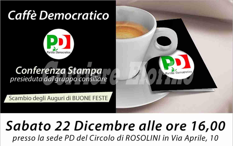 Sabato 22 Dicembre conferenza stampa del Partito Democratico