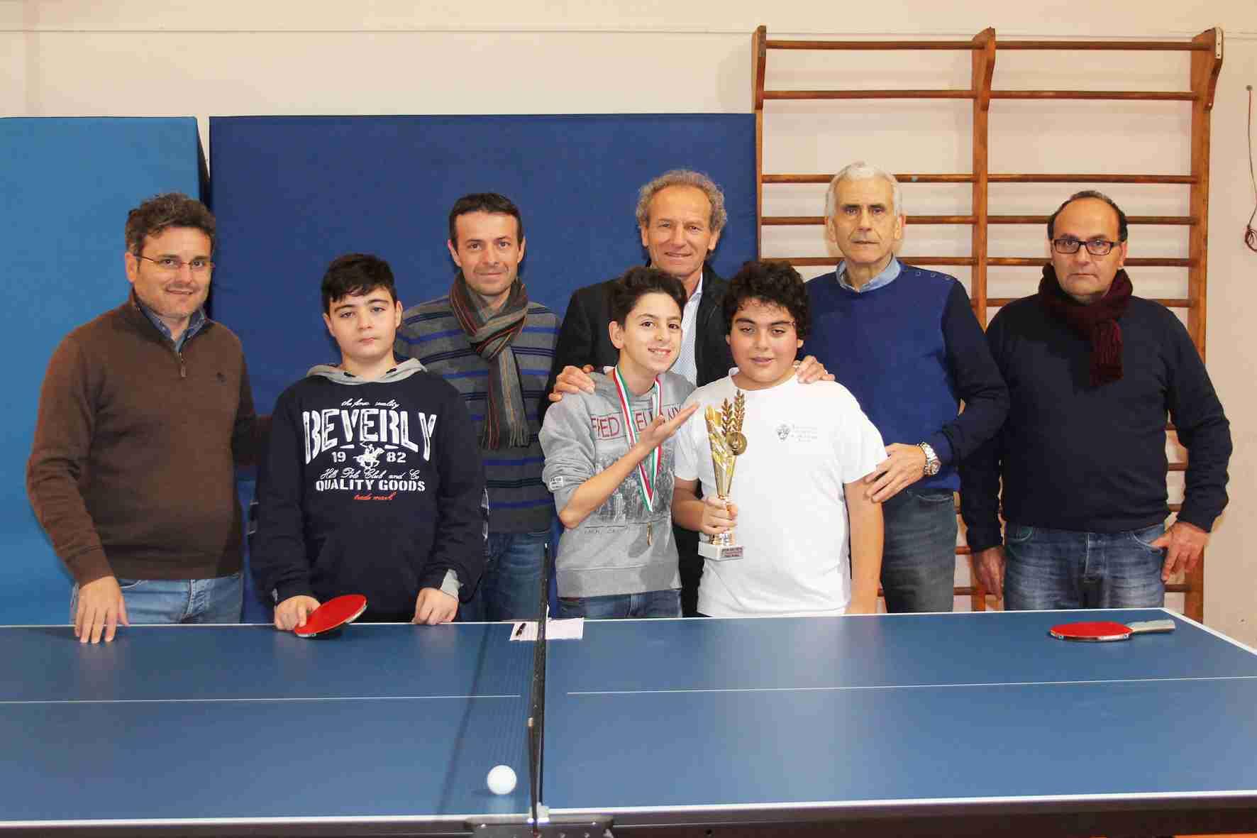 """Pietro Baggieri si aggiudica il primo torneo """"Open"""" di Tennistavolo della scuola """"De Cillis"""""""
