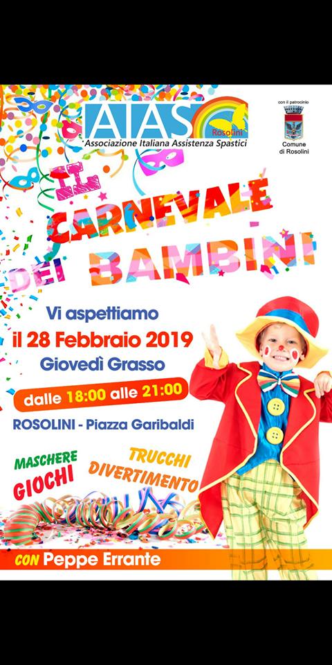 """Il 28 febbraio l'Aias propone """"Il Carnevale dei bambini"""""""
