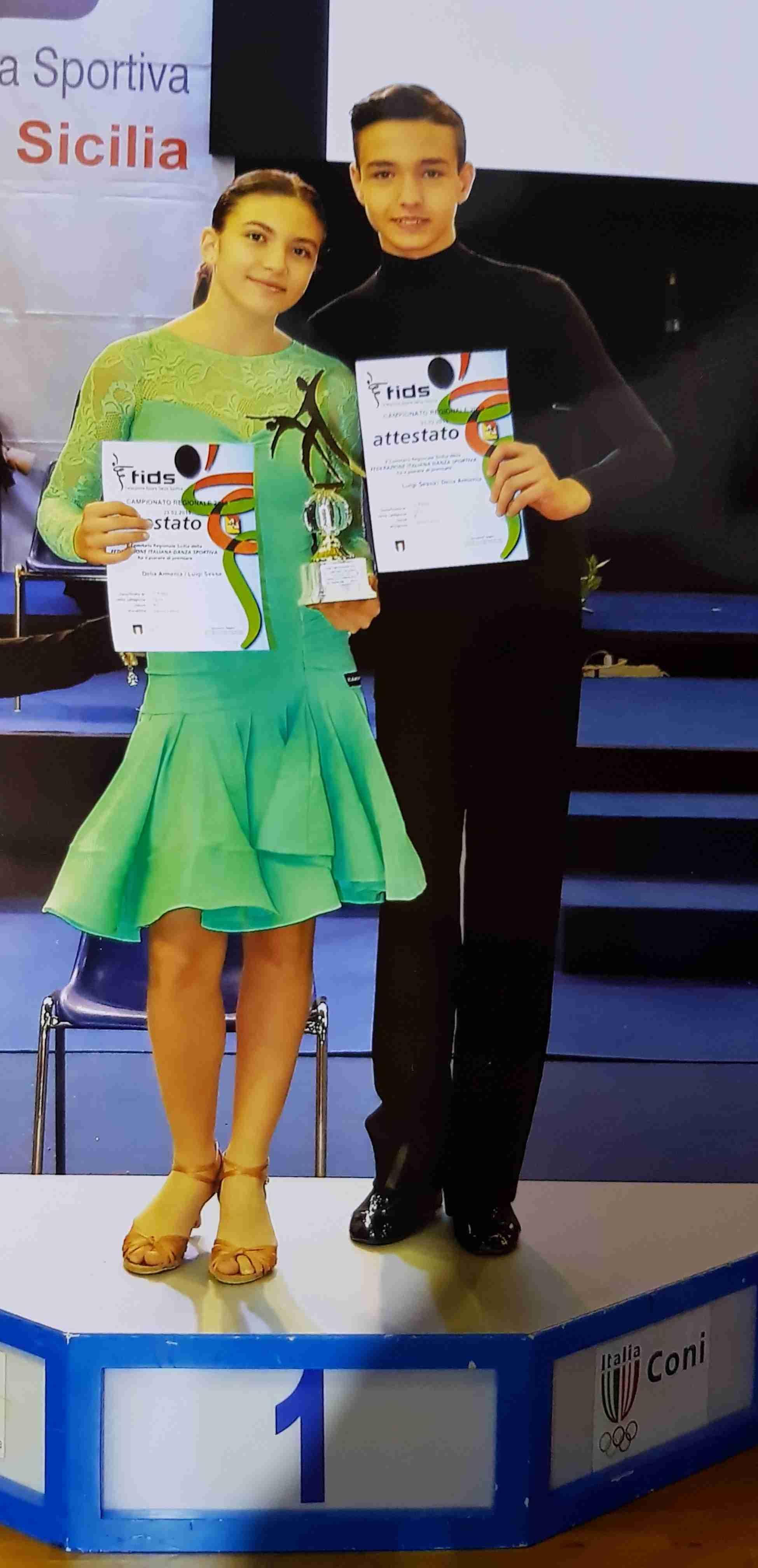 Primo posto per i ballerini Luigi Sessa e Delia Armenia ai Campionati Regionali