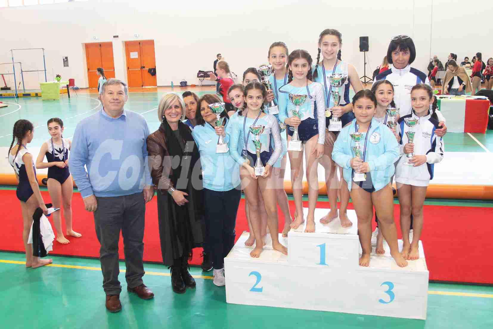 """Regionali"" Endas di ginnastica artistica, l'Olimpia Rosolini premiata in tutte le categorie"