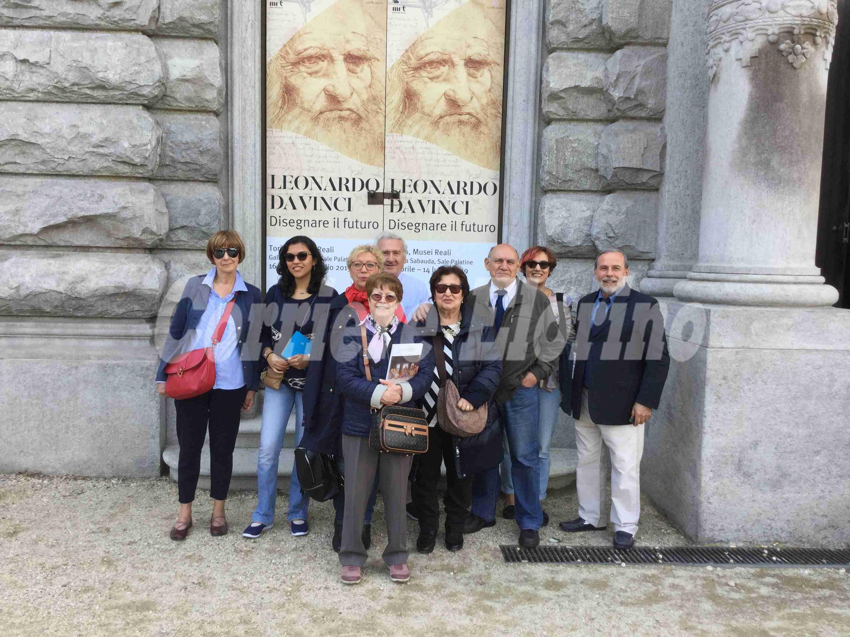 """I """"Rosolinesi in Piemonte"""" alla mostra di Leonardo da Vinci"""
