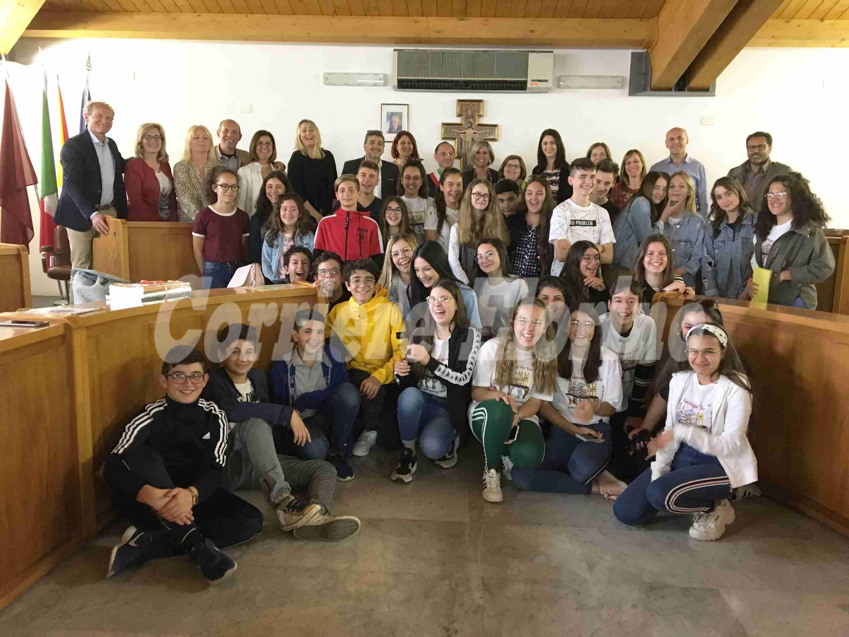 Erasmus plus: studenti di Grecia, Polonia, Portogallo e Romania  ricevuti in Comune