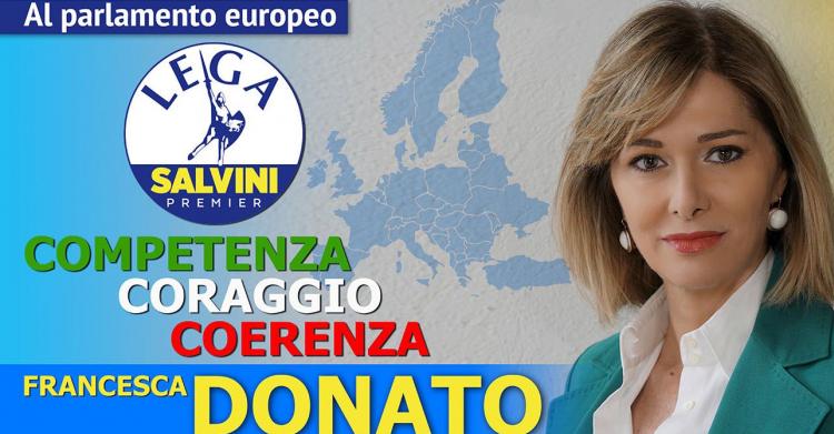 Lega: oggi l'incontro con la candidata alle Europee Francesca Donato