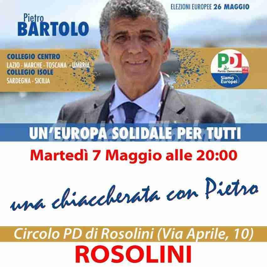 PD: stasera incontro con il candidato alle Europee Pietro BARTOLO