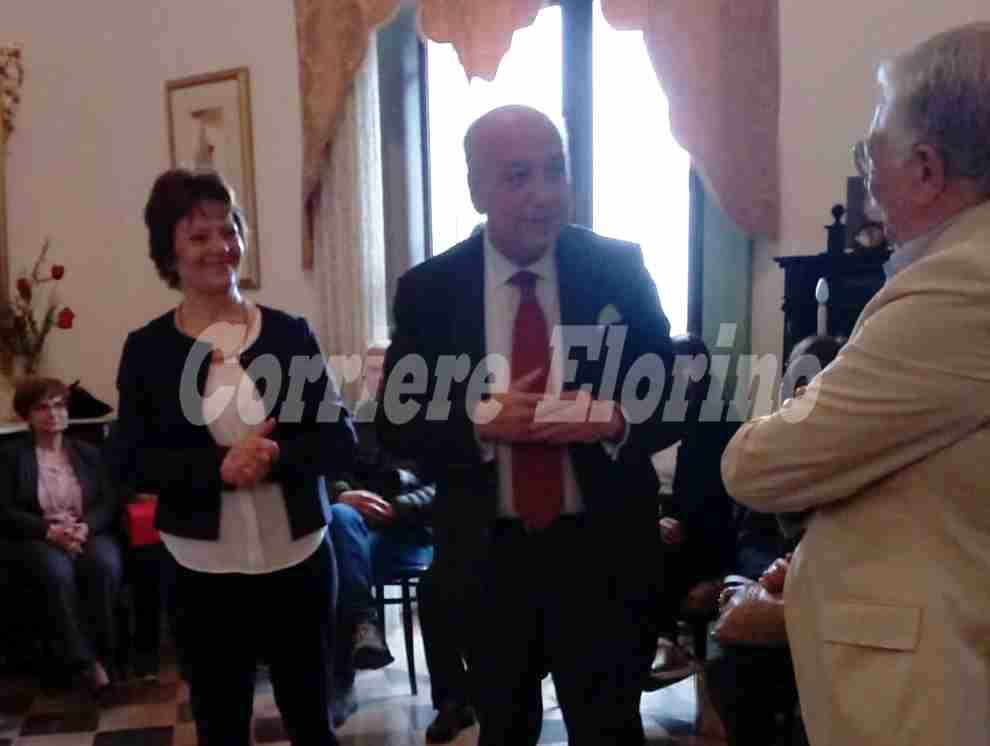 Il senatore Raffaele Stancanelli a Rosolini ospite della dottoressa Moltisanti