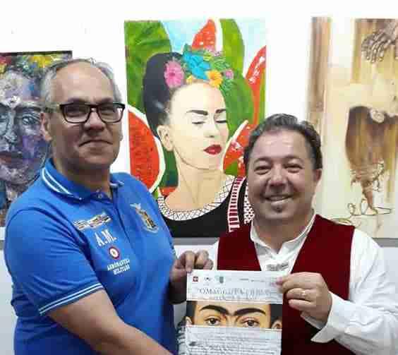 """Mostra d'arte """"Omaggio a Frida"""", l'artista Salvo Distefano espone a Città del Messico"""