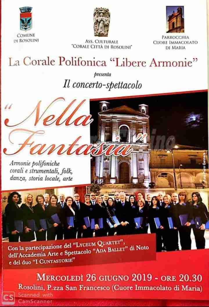 """Corale in concerto: mercoledì 26 giugno lo spettacolo """"Nella Fantasia"""""""