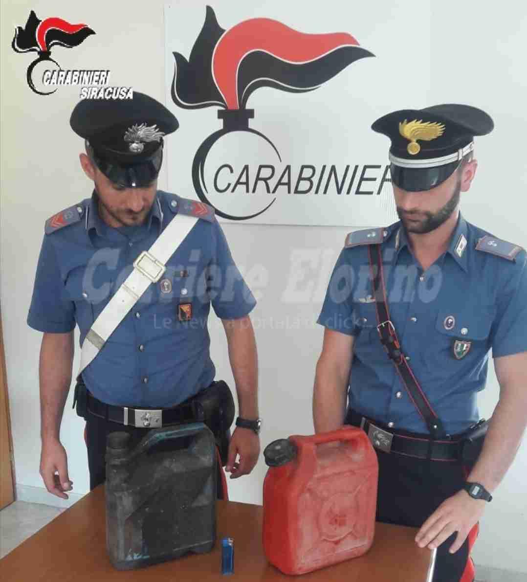 Sorpreso ad appiccare fuoco in un campo, denunciato 65enne di Pachino