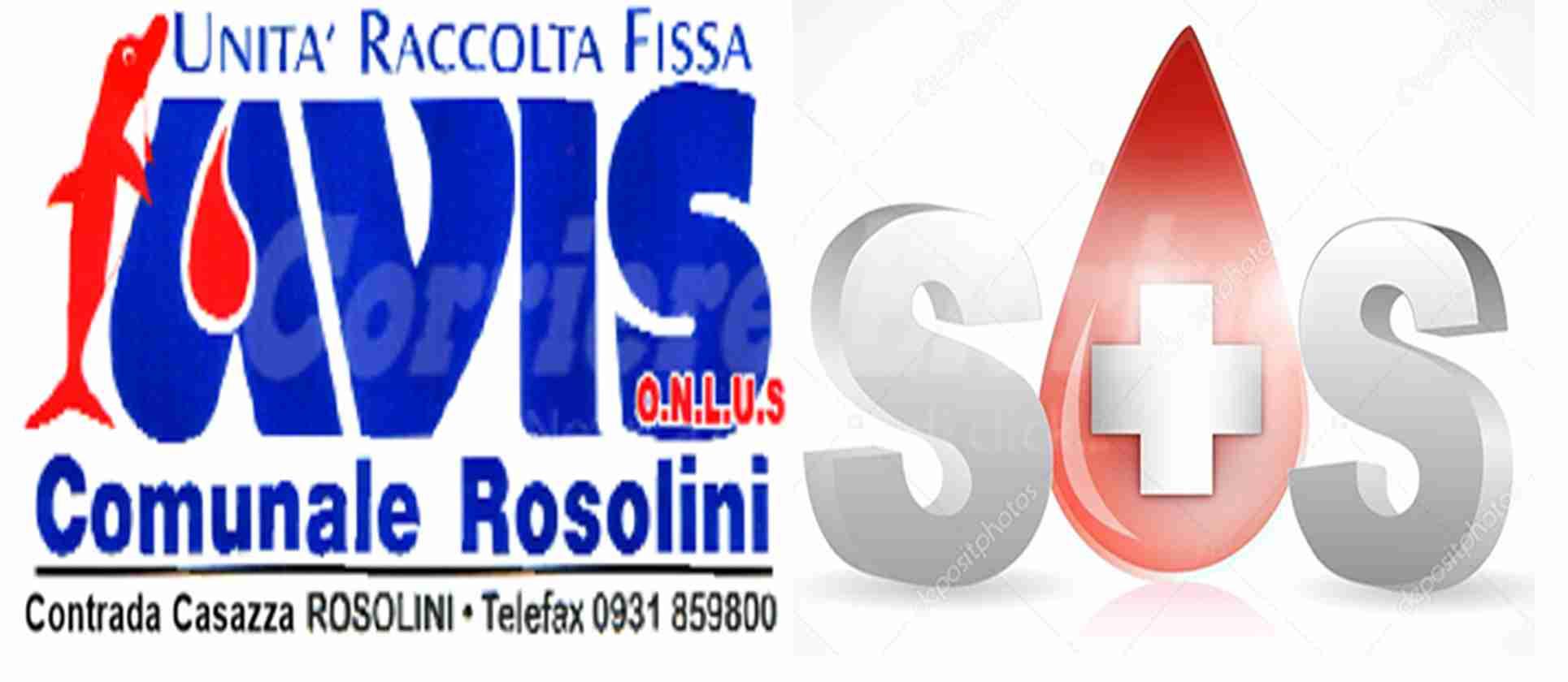 """SOS Sangue, Avis Rosolini invita a donare: """"E' un'urgenza, manca sangue anche negli ospedali"""""""