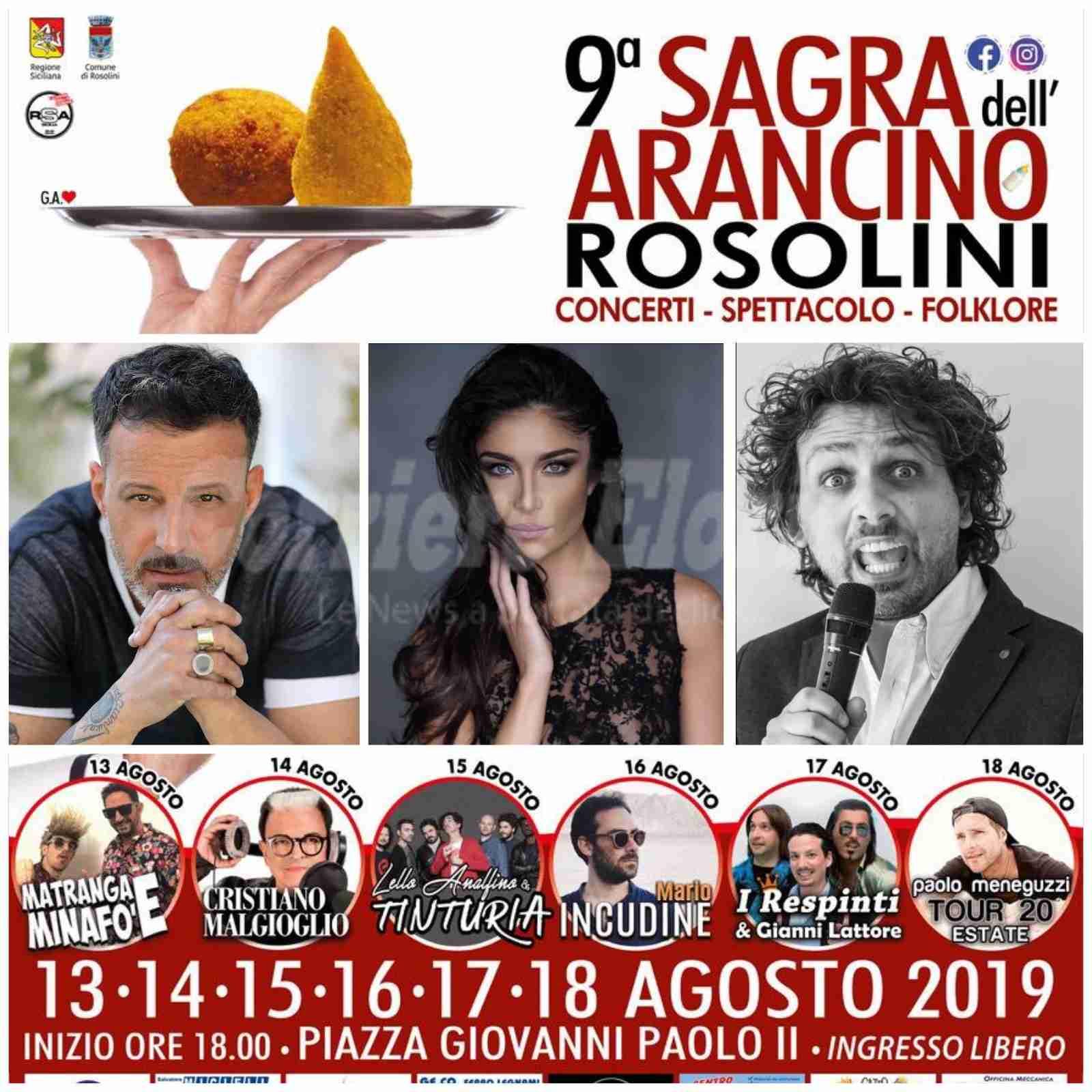 Kikò, Ambra e Di Rosolini: tre presentatori per la 9ª Sagra dell'Arancino