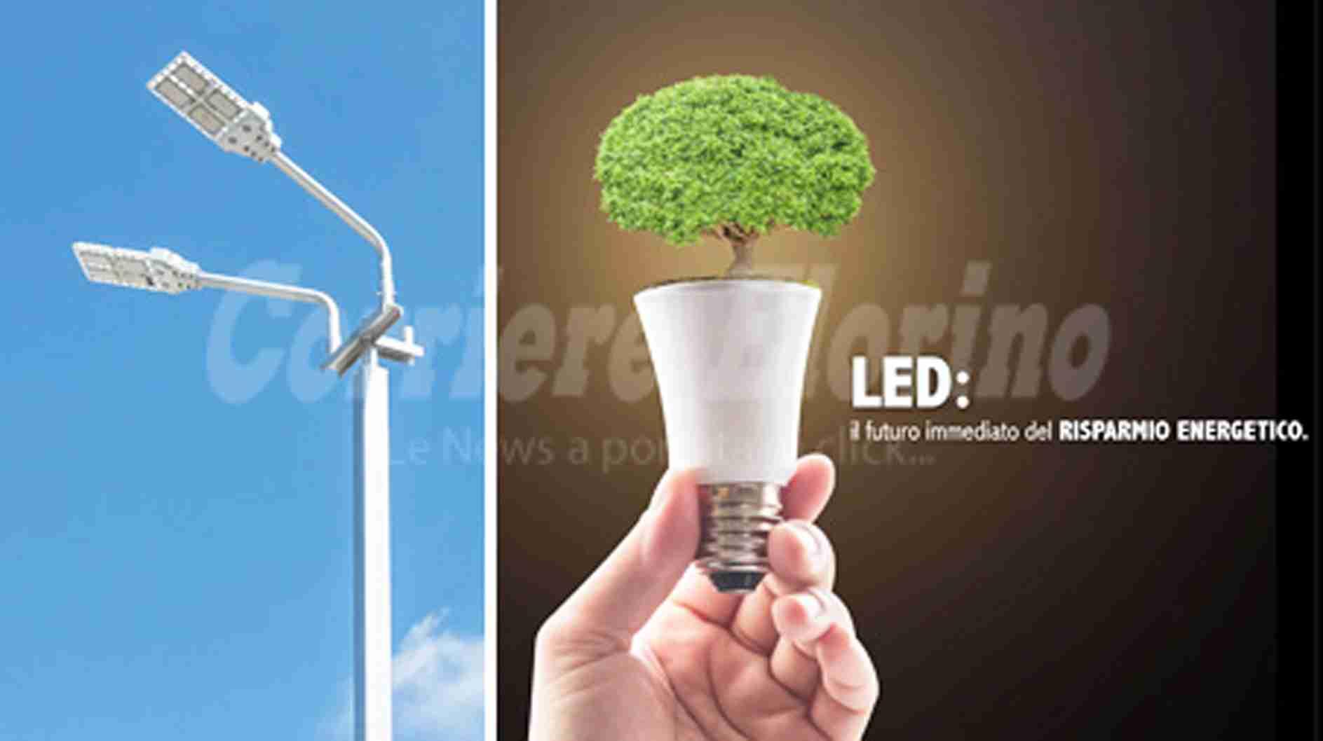 102.000 euro per il risparmio energetico, al via la gara per 400 nuovi corpi illuminanti a led