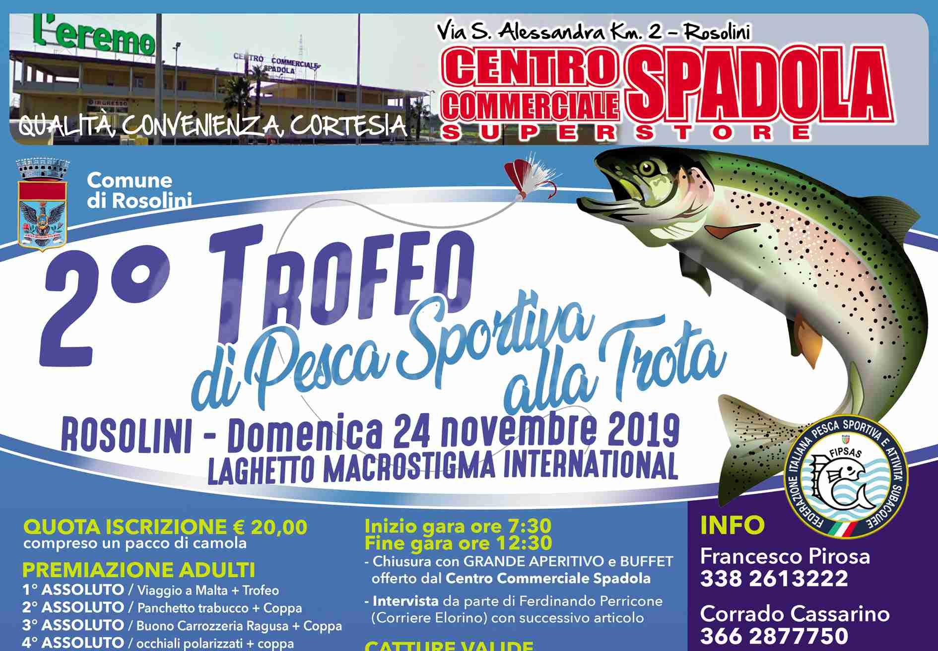 """Il 24 novembre ritorna il 2° Trofeo di pesca sportiva alla Trota nel """"rinato"""" laghetto Macrostigma"""