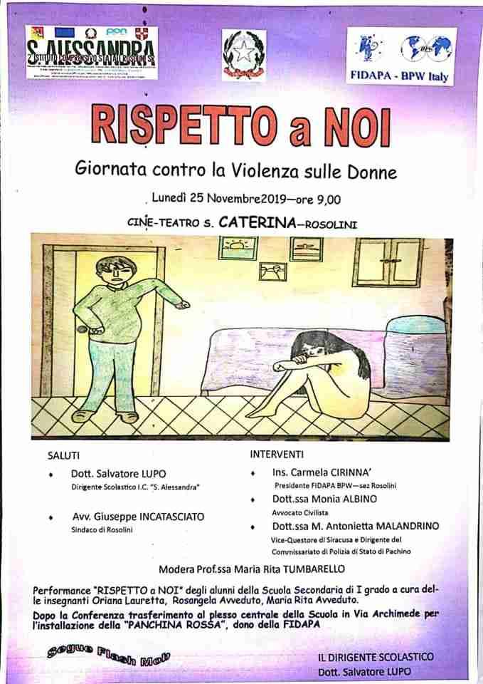 """""""Rispetto a noi"""": il convegno del """"S.Alessandra"""" contro la violenza sulle donne"""