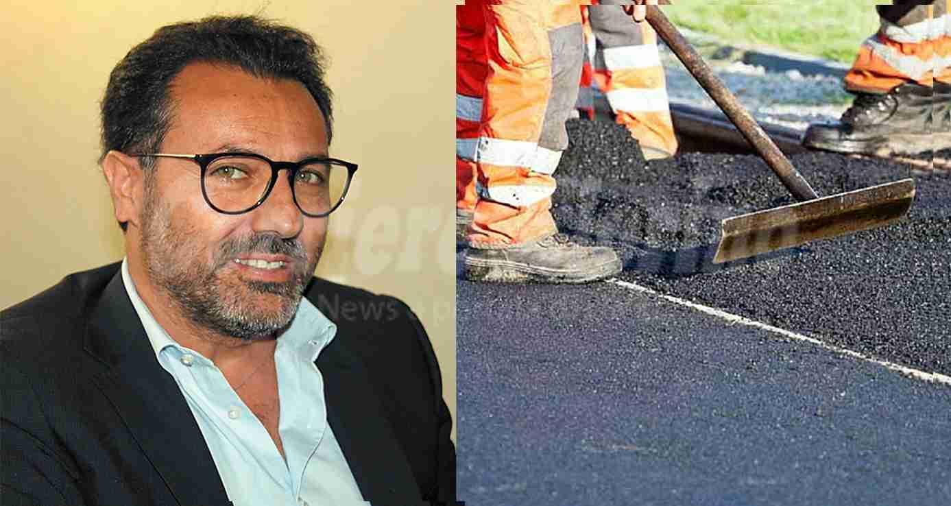"""""""Asfalti Sistem Srl"""" si aggiudica la gara per l'asfalto a 39.980,49 €; Di Stefano: """"Si asfaltano le vie più dissestate"""""""