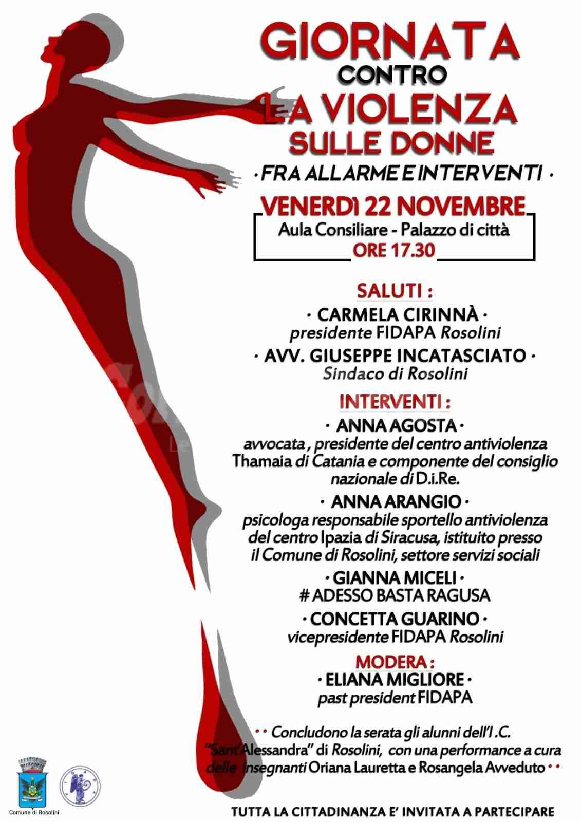 Giornata contro la violenza sulle donne: un incontro promosso dalla Fidapa