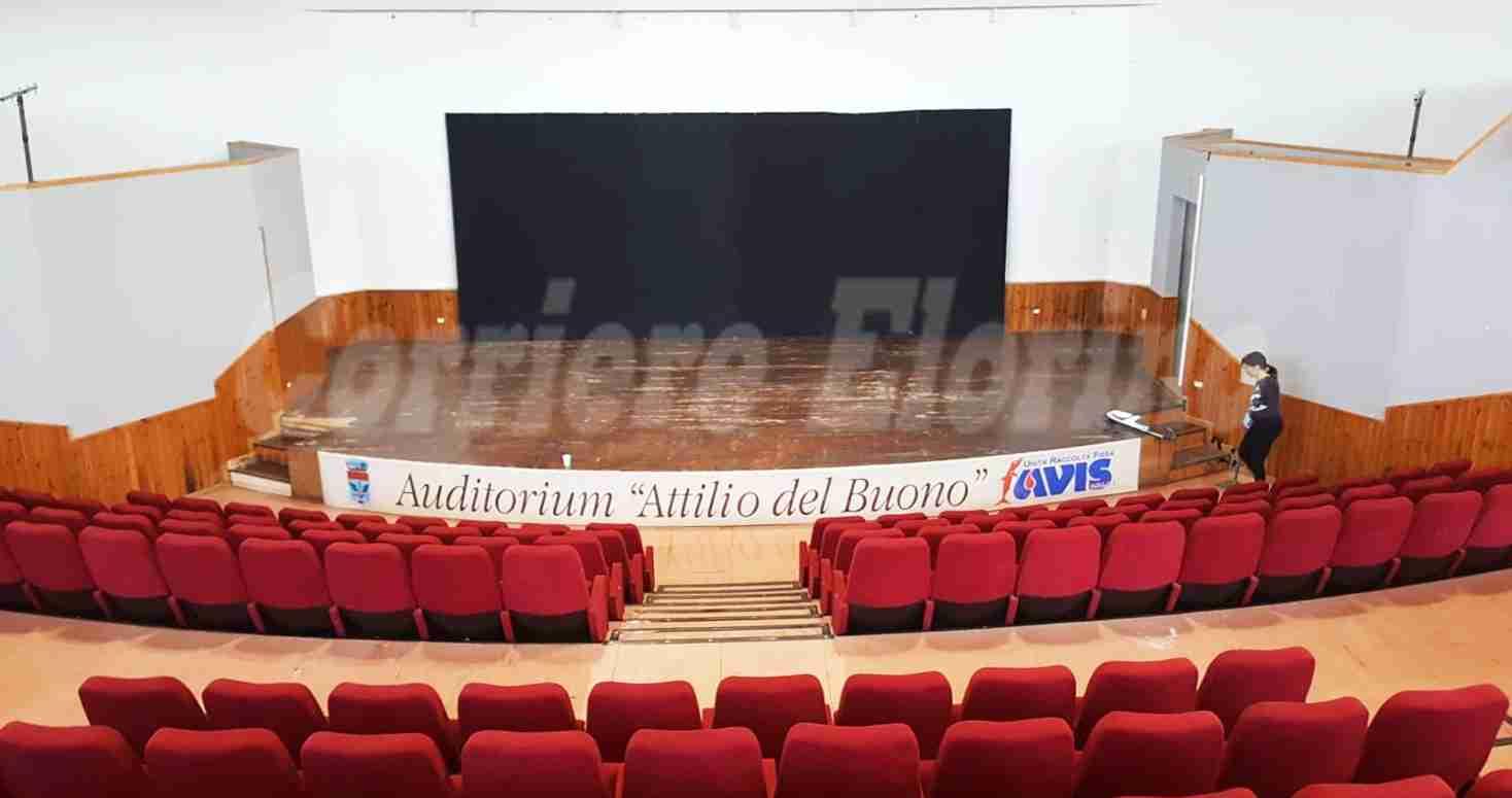 Con l'aiuto dell'Avis Rosolini recuperato l'Auditorium danneggiato dal maltempo