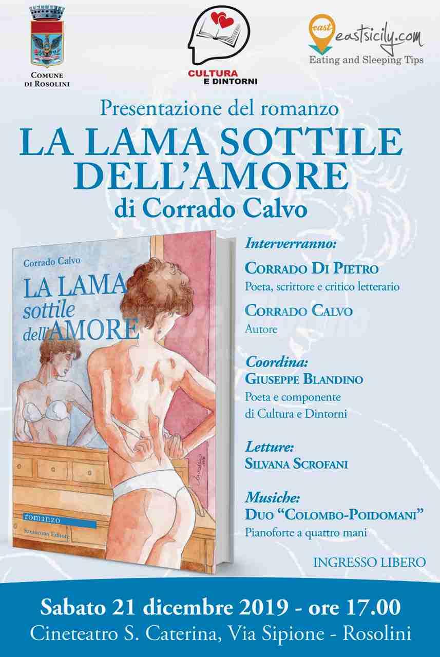 """""""La lama sottile dell'amore"""", il 21 dicembre si presenta il nuovo libro del prof. Corrado Calvo"""